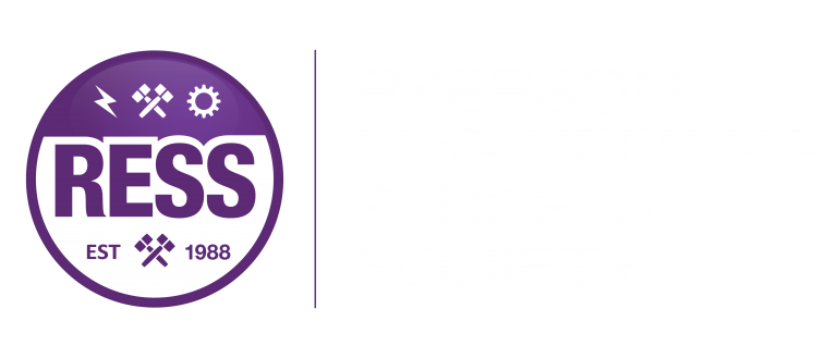Purple RESS Logo with Ryerson Engineering Student Society